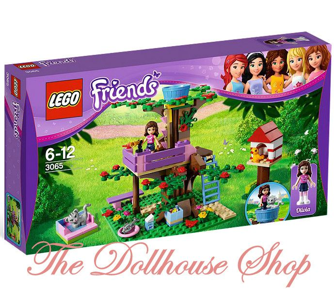 Girls Lego Friends Olivias Tree House Set 3065 NIB 191 Pieces Pink Pc